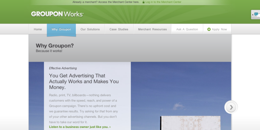 Groupon for Advertisers